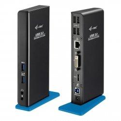 i-tec USB 3.0 Dual Dock Stacja dokująca HDMI/DVI/USB/RJ-45/Audio