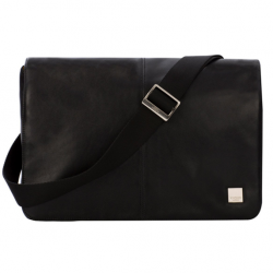 Knomo Kinsale Torba skórzana na ramię do MacBook Air 13 / MacBook Pro 13 Black (czarny)