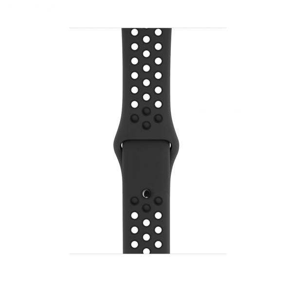 Apple Watch Nike+ Series 3 / GPS + LTE / Koperta 38mm z aluminium w kolorze gwiezdnej szarości / Pasek sportowy Nike w kolorze antracytu/czarnym