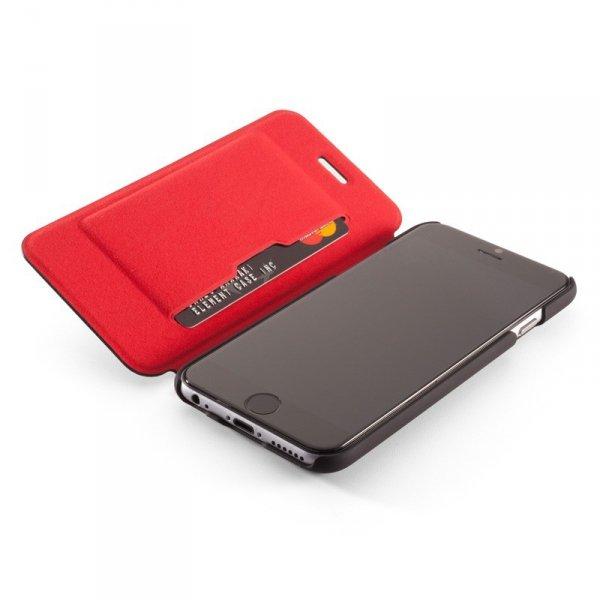 Element Case Soft-Tec Wallet Etui do iPhone 6 Plus / 6s Plus Black (czarny)