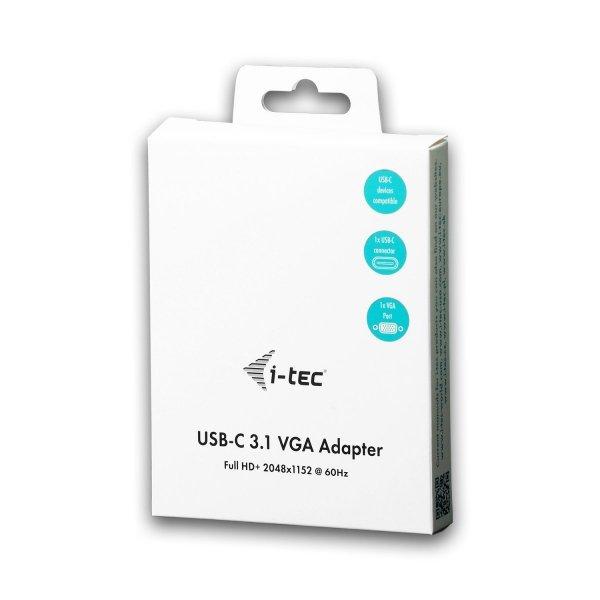 i-tec adapter USB-C do VGA Adapter 1x VGA Full HD+ kompatybilny Thunderbolt 3