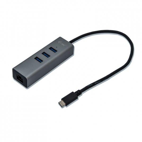 i-tec USB-C Metal HUB 3 Port + Gigabit Ethernet Adapter