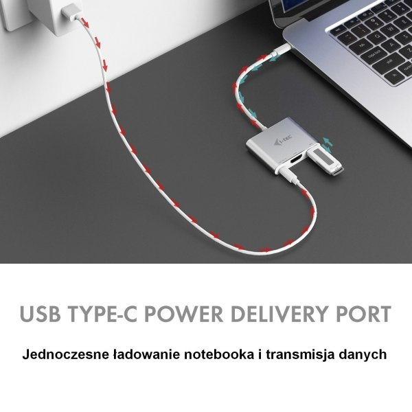 i-tec adapter USB 3.1 Type-C 1x HDMI 4K/1x USB 3.0/1x USB Type-C Power Delivery Silver