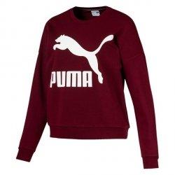 Puma bluza damska Classic Logo Crew bordo