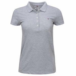 Tommy Hilfiger koszulka polo polówka damska Slim Fit szara