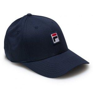 Fila Box logo czapka z daszkiem granatowa bejsbolówka