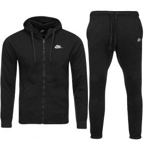Nike męski sportowy dres czarny komplet
