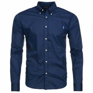 Ralph Lauren koszula męska gładka slim fit granatowa