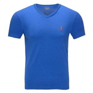 Polo Ralph Lauren koszulka t-shirt męski V-neck slim fit niebieski