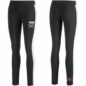Puma legginsy damskie sportowe czarne Hello Kitty 597140 01