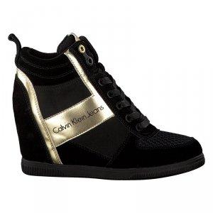 Calvin Klein Jeans buty sneakersy damskie beth suede-nylon-metal smooth /R0648