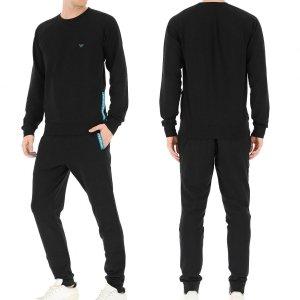 Komplet dresowy spodnie bluza dres Emporio Armani czarny