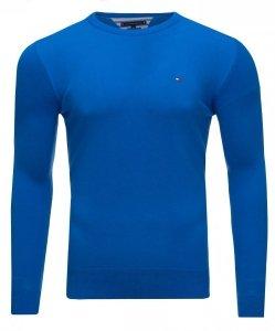 Tommy Hilfiger sweter męski crew neck  niebieski