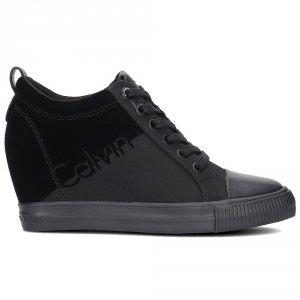 Calvin Klein Jeans buty sneakersy trampki damskie rory nylon-flocking /R0647