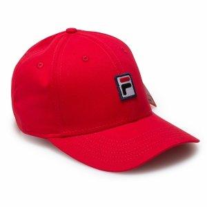 Fila Box logo czapka z daszkiem czerwona bejsbolówka