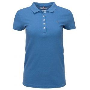 Tommy Hilfiger koszulka polo polówka damska Slim Fit niebieska
