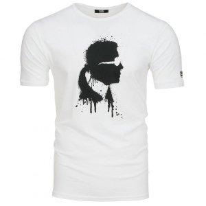 Karl Lagerfeld  t-shirt koszulka męska biała