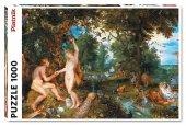 Puzzle Brueghel i Rubens, Raj i grzech pierworodny 1000el.
