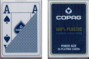 Karty Copag 100% Plastic 4x Jumo IND