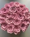 NOWOŚĆ! Różowe WIECZNE żywe róże w flokowanym boxie