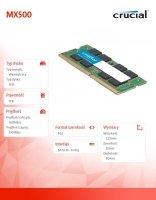 MX500 1TB M.2 Sata3 2280 560/510 MB/s