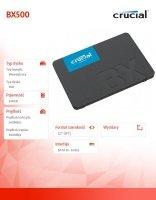 Dysk SSD BX500 240GB SATA3 2.5 540/500MB/s