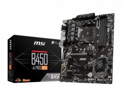 Płyta MSI B450-A PRO MAX /AMD B450/DDR4/SATA3/M.2/USB3.1/PCIe3.0/AM4/ATX