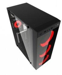 Obudowa Midi Tower Fornax 1500R czerwona