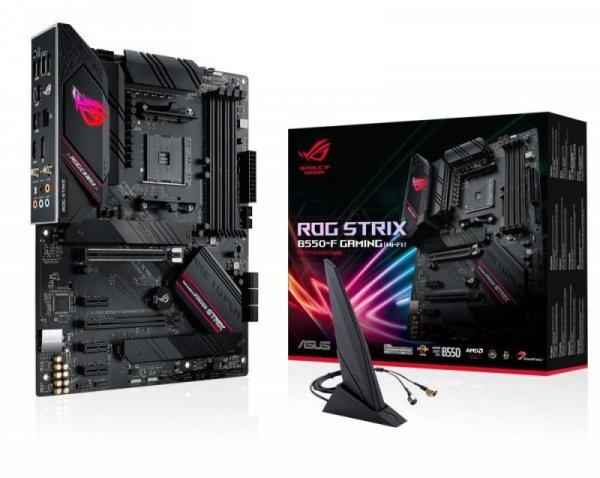 Płyta Asus ROG STRIX B550-F GAMING (WI-FI) /AMD B550/SATA3/M.2/USB3.1/PCIe4.0/WiFi/BT/AM4/ATX