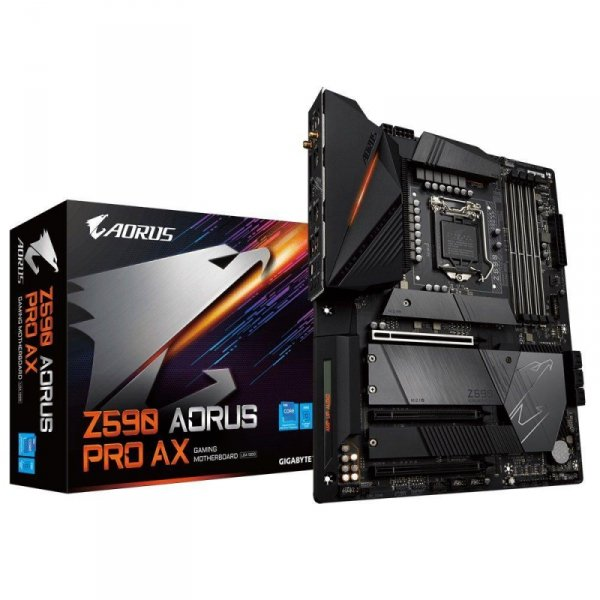 Płyta Gigabyte Z590 AORUS PRO AX (rev. 1.0) /Z590/DDR4/SATA3/M.2/USB3.1/PCIe3.0/s.1200/WIFI/BT/ATX