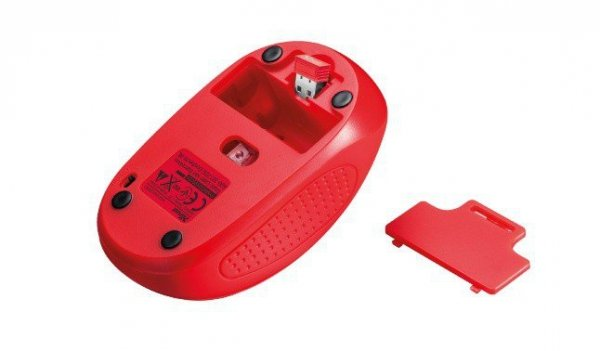 Primo Wireless Mouse - red