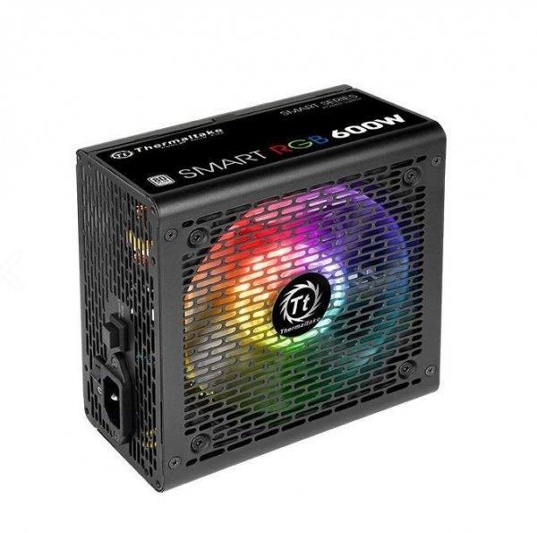 Smart 600W RGB (80+ 230V EU, 2xPEG, 120mm, Single Rail)