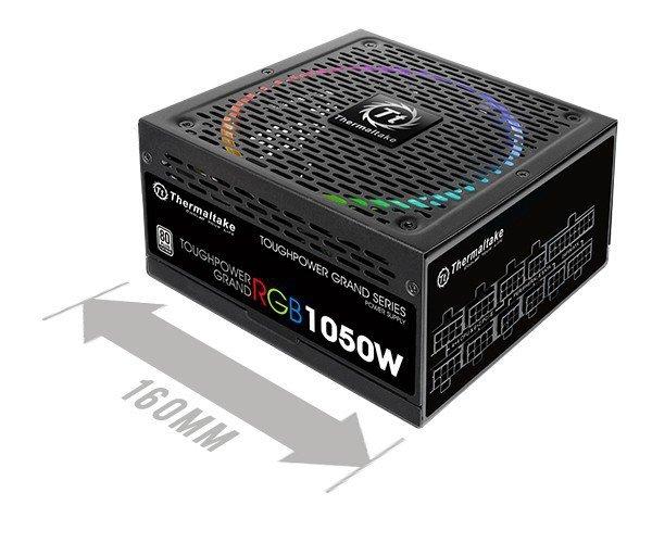 Toughpower Grand Riing 1050W Platinum 230V, 8xPEG, 14 cm
