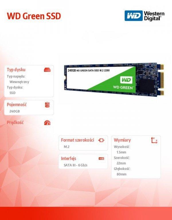 Green SSD 240GB SATA M.2 2280 WDS240G2G0B