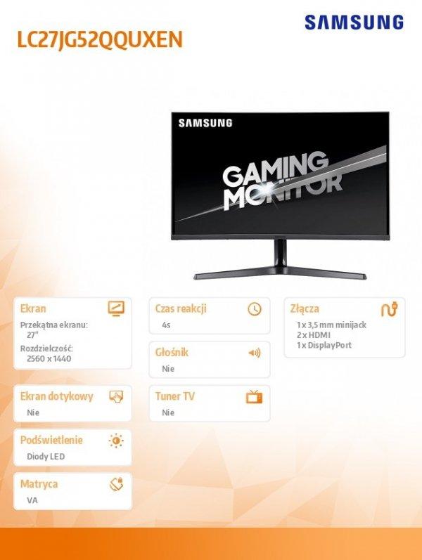 Monitor 27 cali C27JG52QQUX LC27JG52QQUXEN