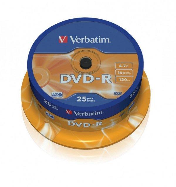 DVD-R 16x 4.7GB 25P CB           43522