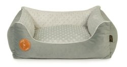 CEZAR bed gray + minky gray