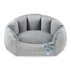 Bed Finessa grey with blue bow