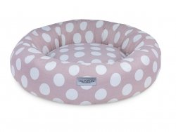 Super comfortable bed DONUT COTTON pink with white dots