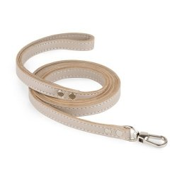 Luxurious PRESTIGE leather leash beige