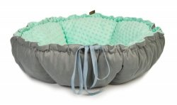 DAISY double-sided bed gray - mint minky