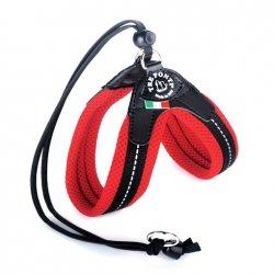 Szelki  MESH Easy FIt czerwone regulowane na plecach