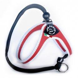 Szelki EASY FIT czerwone regulowane na plecach