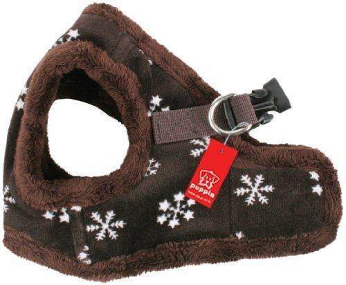 ocieplana szelki-kamizelka dla psa SnowFlake brązowa
