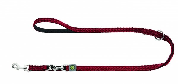 Adjustable dog lead HILO red Hunter