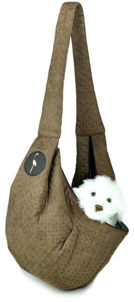 Sportowa torba nosidło SARA brązowa pikowany
