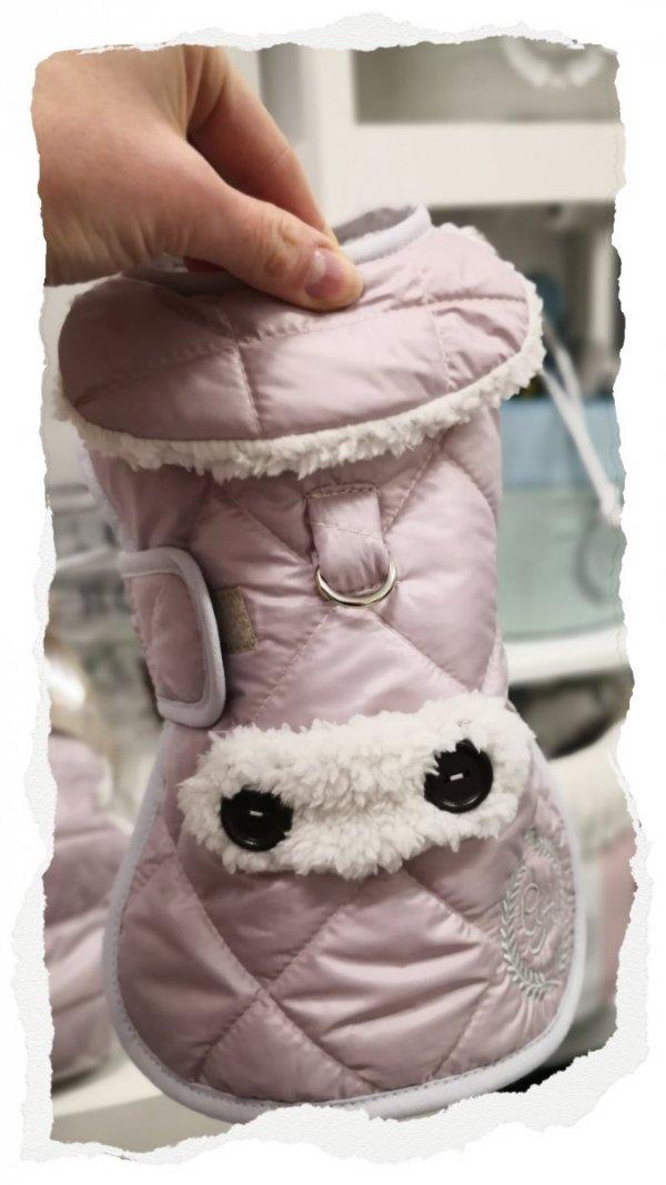 Ciepła kurtka z kożuchem SIENNA różowa