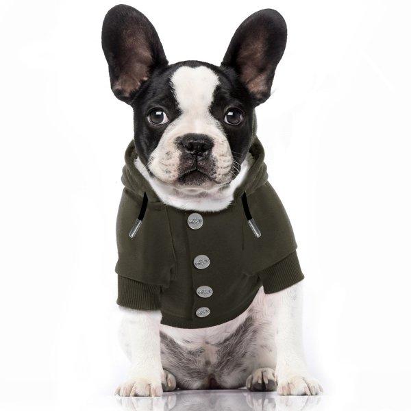 bluza dla psa z kapturem zapinana na zatrzaski od Milk&Pepper
