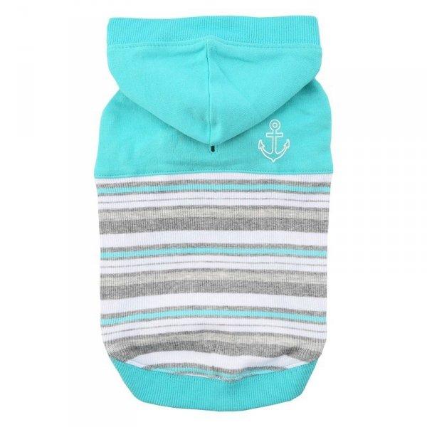 Ciepła bluza z kapturem w uroczy wzór w paski od Puppia