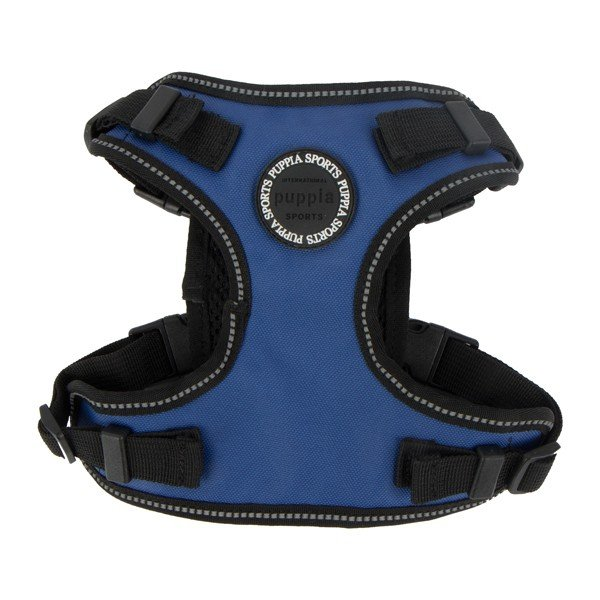 Odblaskowe i wodoodporne szelki TREK F niebieskie Puppia